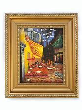 Dipinto Olio su Tela con Cornice - 30x35 cm - Caffè di Notte - Quadro Van Gogh