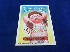 Topps 1986 Garbage Pail Kids Series #4 Shaggy Aggie Sticker Trading Card 126b