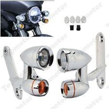 Fairing Mounted Driving Lights w/ Turn Signals For Harley Street Glide Road King