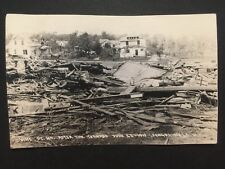 REAL PHOTO POSTCARD c1919 Vine St Tornado Damage FERGUS FALLS, MN (20114)