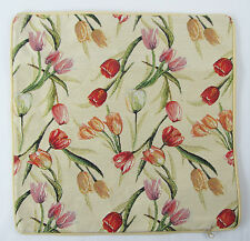 Tulip Flower Design Tapestry Cushion Cover Signare - Set of 2 Matching Covers
