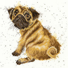 BOTHY THREADS WRENDALE DESIGNS PUG DOG COUNTED CROSS STITCH KIT - NEW XHD11