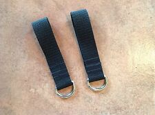 2 X Heavy Duty 4mm Welded Metal D Ring Belt Loop Key Fob Security 25mm Webbing