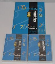 NEW Student Support Centre Simply Maths Part 3 Volume 3 a 3b Book & Dvd's sealed