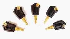 (5) Heavy Equipment Key Set Ignition Keys for CAT Caterpillar New Style 5P8500