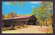 LMH Postcard  ALBANY COVERED BRIDGE  Swift River Conway  ALBANY NH Single Span r