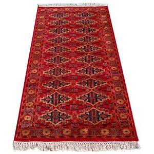 Amma Carpets Handmade Traditional Luxury Hand Knotted Red Wool Rug Size 3x5 feet