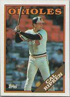 Cal Ripken 1988 Topps Baseball Card #650 Baltimore Orioles
