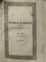 Giovanna d' Arco libro del Gorres edito a Milano nel 1838 prima edizione italian
