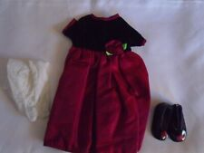 Red Party Dress, Shoes, Tights for American Girl