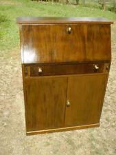 ArtDeco Writing Bureau Cabinet fold down front student desk vintage style timber