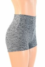 MEDIUM High Waist Gray/Black Soft Knit Rave Festival Party Shorts Ready To Ship!