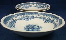 Johnson Brothers PERSIAN TULIP BLUE 3 Soup Bowls GREAT VALUE