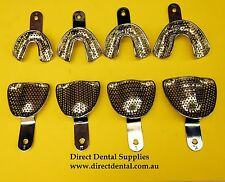 Dental Impression Tray Stainless Steel Edentolous Set Of  8 PCS  Assorted