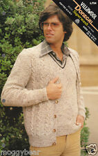 Villawool Donegal Mens Knitting Pattern Booklet No L754  8 Ply  90-115cm 36-46in