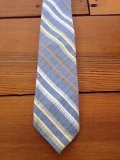 Vintage 70s Oscar De La Renta Cotton Blend Stripe Preppy Schoolboy Skinny Tie
