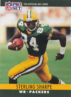 Sterling Sharpe 1990 Pro Set #114 Green Bay Packers football Card