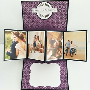 HANDMADE Photo name & Year Personalized Pop up Anniversary Card Anniversary gift