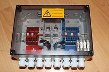 Solar Anschlusskasten 8 Strings mit 2 St. 10A Sicherungen GAK Verteiler kasten
