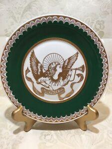 Porta Rejoice Fine Porcelain Angel Plate Gold,Portugal Porcelanas