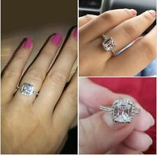 silver plated CZ Fake travel engagement wedding tester sparkly cocktail ring