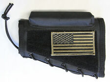 Black Cheek Rest + PATRIOT FLAG Patch Fits Ruger 22 10/22 77/22 AMERICAN Rifle