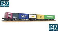 Bachmann 38-627 FGA Freightliner Wagons (x2) BR Blue with Maritime Containers
