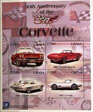 GHANA 2003 3570-73 Block 453 Chevrolet Corvette Automobile Cars Autos Stingray