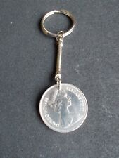 1969 Ten Pence Coin On A Keyring