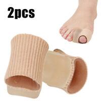 2pcs Soft Big Toe Separators Straightener Bunion Gel Pad Corrector Pain Relief