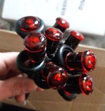 """10 Pack of Red Tecniq 3/4"""" Mini Led Gromet Mount Marker Lights S34-RR09-1"""