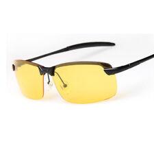 UK Unisex Night Driving Glasses HD Anti Glare Vision Polarized Yellow Unisex