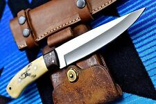 CFK Custom Handmade D2 BUCK DEER Scrimshaw Bushcraft Hunting Skinning Bone Knife