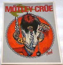 Vintage Authentic Official Genuine 1984 MOTLEY CRUE ALLISTER FIEND 8x10 Photo