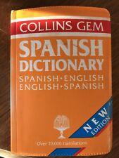 Vintage Collins Gem Spanish Dictionary