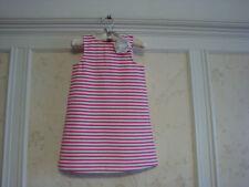 NWT $54 Janie And Jack  Hibiscus Beach  Girls  Striped Ponte Dress  3 3T  Pink