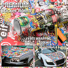 "*12""x60"" JDM Racing Graffiti StickerBomb Vinyl Decal Sticker Wrap Sheet #LIO"