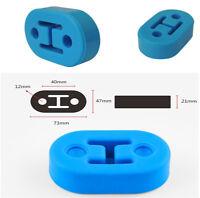 4pc/Set Polyurethane Rubber 2 Hole 73*12mm Exhaust Muffler Hanger Blue Universal