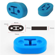 4pc/Set Polyurethane Rubber 2 Hole 73*12mm Exhaust Muffler Hanger Blue Universal