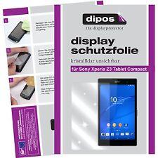 3x dipos Sony Xperia Z3 Tablet Compact Protector de Pantalla transparente