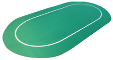"New Green Sure Stick 70"" x 35"" Oval Rubber Foam Poker Rollout Table Top Felt"