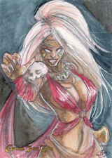 Grimm Fairy Tales 2016 SDCC Sketch Card Amber Stone of Baba Yaga DE 2/3