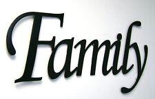 Family Metal Sign in Black- Metal Wall Art Home Decor Aluminum