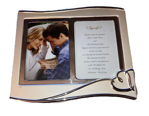 Silverplate Picture Frame 5x7 Double Invitation Lenox Forevermore Wedding Frame