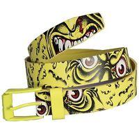 SANTA CRUZ Skateboard Belt - Rob Roskopp Face - Size S/M or L/XL Green or Yellow