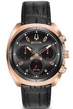 BULOVA Curv Rosa Oro Cronógrafo Caballeros Reloj 98A156-PVP 499 € - nuevo