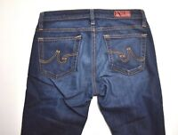 AG ADRIANO GOLDSCHMIED The Angle Dark Wash Straight Leg  Jeans Size 26R
