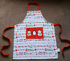 Christmas Quality Adults Chef Apron  Pocket Kitchen Cooking Baking 100% COTTON