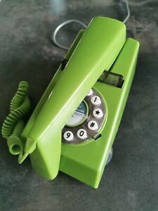 Retro Vintage Phone Green Push Button Phone