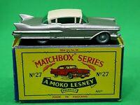 Matchbox Lesney 27 Cadillac Sixty Special (ULTRA RARE DARK METALLIC BROWN)